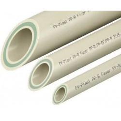 Труба полипропиленовая Faser Стекловолокно 110x18,3 FV-Plast  AA107110004