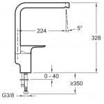 Смеситель для кухни Jacob Delafon ALEO+ (хром) E72358-CP