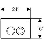 Инсталяция для подвесного унитаза Geberit DUOFIX DELTA 3 в 1 458.124.21.1