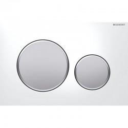 Смывная клавиша Geberit SIGMA20 двойной смыв (белый/матовый/матовый хром) 115.882.KL.1