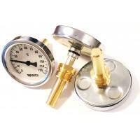 Термометр биметаллический аксиальный Watts F+R801 OR 63мм (0-120 С) с гильзой 50мм арт.10005800
