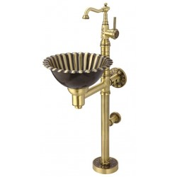 Раковина медная Bronze de Luxe напольная со смесителем