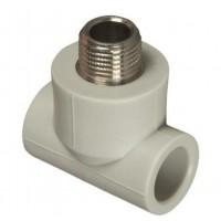 Тройник ппр с металл резьбой наруж 25x3/4 FV-Plast 222525