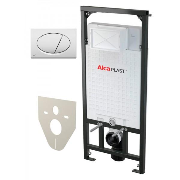 Инсталяция для подвесного унитаза Alcaplast AM101/1120 с кноп M71 (4в1)