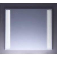 Зеркало OPADIRIS ОНИКС 80 с подсветкой бел с зол патиной