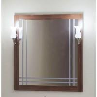 Зеркало OPADIRIS САКУРА 80 со светильником Рустика хром свет орех