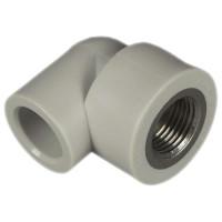 Угольник ппр с металл.резьбой внутренней 25x3/4 FV-Plast 218025