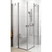 Душевая дверь RAVAK CRV2-90 CHROME комб с дверью или стенкой блестящий+стекло Transparent 1QV70C00Z1
