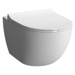 Унитаз VITRA Sento подвесной безободковый сиденье с микролифтом (бел) 7747B003-6115