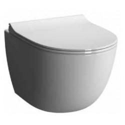 Унитаз VITRA Sento подвесной безободковый сиденье с микролифтом (бел) 7748B003-6115
