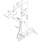 Душевая система AM.PM Like см-ль д/ванны/душа,верх. душ d250 мм,руч.душ 110мм,переключатель F0780964