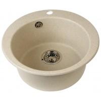 Мойка кухонная Акватон Иверия круглая литой мрамор черная 1A711032IV100