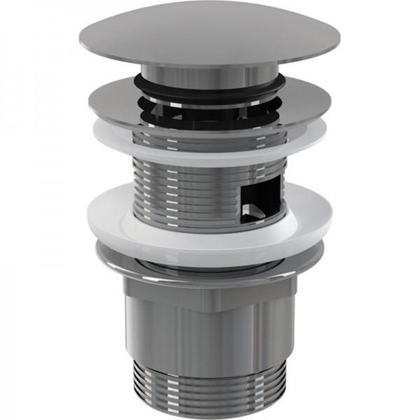 Выпуск для умывальника 11/4 click/clack лат/хром Miano с большой заглушкой M1103